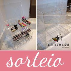 Sorteio: Kit de Organizadores de Maquiagem Centauri Acrílicos