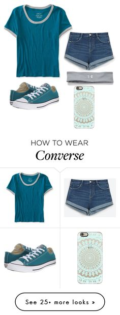 """""""OOTD"""" by gretchenlover on Polyvore featuring Aéropostale, Zara, Converse, Under Armour and Casetify"""