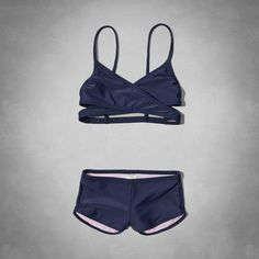 wrap style two-piece swimsuit from Abercrombie Kids | swim suits