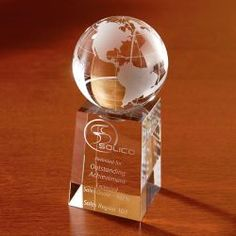 Explorer Globe Optically Perfect Award | Minimum order 6, $54.00 - $52.50 ea.