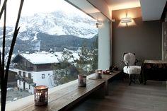 Italy - Veneto   Panoramic view from the livingroom at Baita del Capo,Berica Marchiorello's house in Cortina d'Ampezzo