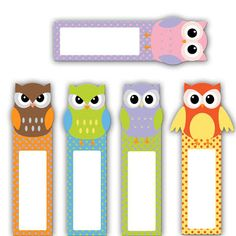 Owl Theme Classroom, Creative Bookmarks, Diy And Crafts, Paper Crafts, Animal Sewing Patterns, Doily Patterns, Clothes Patterns, Dress Patterns, School Labels