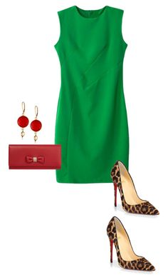 """Untitled #298"" by stelastela ❤ liked on Polyvore featuring moda, Christian Louboutin y Mulberry"