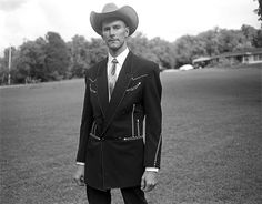 Hank Williams III in his father's suit.