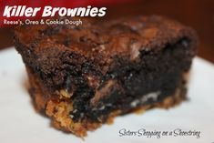 Reese's, Oreo and Cookie Dough Brownies - Sisters Shopping on a Shoestring