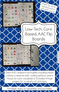 Speechy Musings: An easy, low-tech solution to your AAC needs! Contains 3 color coding options and a beginner core board! Easy to set up and portable!