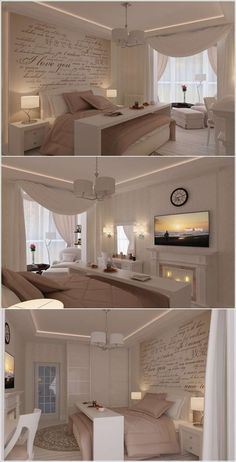 Bedroom ideas l white and beige inspiration