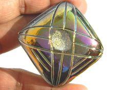 AAA Druzy Agate Pendant BeadPlatinum by GemsPebblesandBeads, $20.99