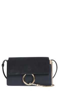 Chloé 'Small Faye' Leather Shoulder Bag available at #Nordstrom