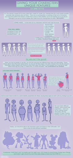 Unique Body Types Tutorial: Pt 1 by ~jeinu on deviantART