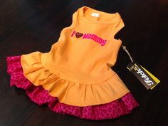 I Love Mommy Dog Dress by FetchDogFashions on Etsy