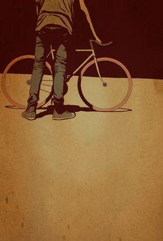 ffffixas9 fiets grafisch illustratie