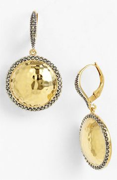 Judith Jack 'Gold Sea' Puffy Dome Drop Earrings available at #Nordstrom