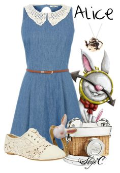 """""""Alice - Disney's Alice in Wonderland"""" by rubytyra ❤ liked on Polyvore featuring Kate Spade, Wet Seal, By Emily, Hipster, disney, aliceinwonderland and disneybound"""