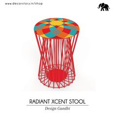 Unique, radiant, classic is what this exceptional stool stands fir. An extraordinary design created by Design Gandhi. Available on www.decorstory.in #Stools #lazyday #innovativedesign #DesignGandhi #madeinIndia #makeinIndia #prettyhome #completehome #homedecor #modernseating #sitinstyle #hipstermode