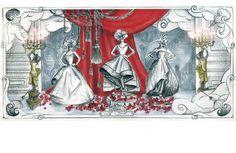 Dior window sketches for Printempts Paris