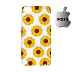 Cute Sunflower iPod 5 5g 5th Touch Case Cover Hardshell