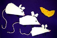 Muizen scheuren van papier