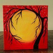 Original Tree of Life painting Abstract Tree painting Whimsical Tree Art Tree art Mini painting Mini Simple Canvas Paintings, Easy Canvas Art, Oil Pastel Paintings, Small Canvas Art, Oil Pastel Drawings, Oil Pastel Art, Cool Art Drawings, Tree Paintings, Mini Paintings