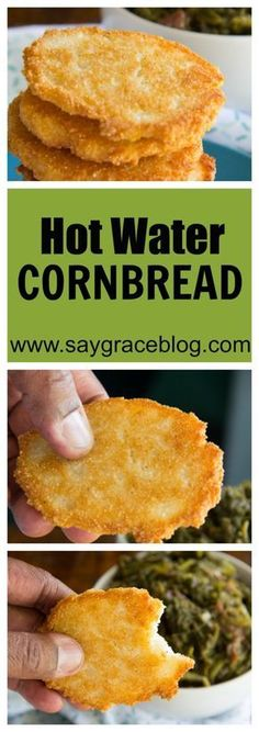 Cornbread Pan fried cornmeal mixed with shortening and boiling water make these hot water cornbread patties a delicious staple for all southern bites!Love Bites Love Bites may refer to: In film and television: In music: In other uses: Fried Cornbread, Cornbread Recipes, Hot Water Cornbread Recipe Soul Food, Hoe Cakes, Great Recipes, Favorite Recipes, Good Food, Yummy Food, Healthy Food