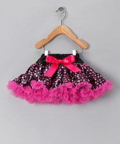 Look at this #zulilyfind! Hot Pink Heart Satin Pettiskirt - Infant, Toddler & Girls #zulilyfinds