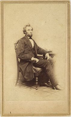 CDV portrait of newly elected President Lincoln. Taken by Alexander Gardner, February 24, 1861 while he was on the staff at the Brady Studio in Washington, D.C.  *s*