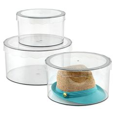 Clarity Hat Boxes are great for displaying hats or accessories. Available in three sizes, they will clearly display your contents for an easier way to pick and choose your perfect statement piece. Closet Rod, Master Closet, Hall Closet, Closet Space, Hat Storage, Storage Boxes, Storage Ideas, Hat Organization, Ideas Para Organizar