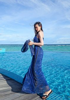 2eb33d4b940 Chic Zaffre blue Backless Strap Rompers Dressy Summer Outfits