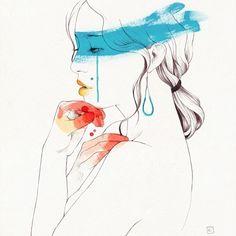 joidart by conrad roset. #paintsplatter #sideprofile #shoulders