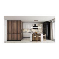Trecerea dintre bucătărie și zona de dining este realizată cu ajutorul unor uși glisante, soluție ideală pentru a opri răspândirea aromelor în toată casa. Cu siguranță punctul central al bucătăriei este insula care are rol multiplu - pentru depozitare, blat de lucru și luat masa, iar spațiile de depozitare sunt atent mascate pentru a păstra aspectul unitar și fără a fi încărcat🍽️ Cu electrocasnicele încastrate în mobilier am optimizat spațiul de care dispunem… Design Projects, Divider, Interior Design, Room, Furniture, Home Decor, Nest Design, Bedroom, Decoration Home