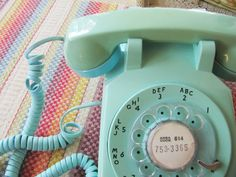 Vintage Aqua Rotary Phone Turquoise Rotary by HipCatRetroVintage, $57.00 https://www.etsy.com/listing/166250818/vintage-aqua-rotary-phone-turqoise?ref=shop_home_active