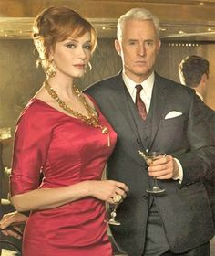 Joan Holloway, plus cocktails and men as accessories