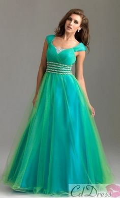 The color is great and I totally like the straps like that!!! ❤ This is my favorite dress I've seen so far.