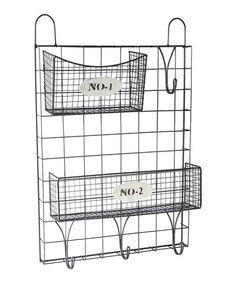 Look what I found on #zulily! Wire Wall Storage & Baskets #zulilyfinds