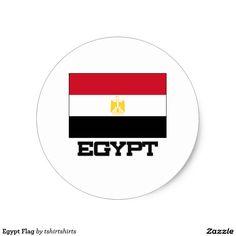 Egypt Flag Classic Round Sticker