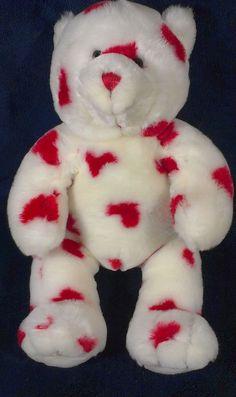 Build A Bear Plush Stuffed Teddy Bear Animal Toy White Red Hearts Magnet BABW   #BuildABearWorkshop