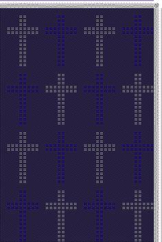 Hand Weaving Draft: Swedish Lace Crosses, KB Original, 6S, 6T - Handweaving.net Hand Weaving and Draft Archive