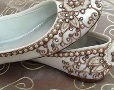 Cerezo flor nupcial Ballet Flats zapatos de boda - cualquier tamaño - escoge tu propio color de zapato y cristal color