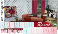 "Annett's Sims 4 Welt: Wallpapers ""Little Roses"""