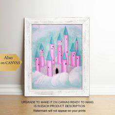 52 ideas baby girl nursery princess blue for 2019 Princess Wall Art, Princess Nursery, Princess Castle, Baby Wall Art, Nursery Wall Art, Girl Nursery, Baby Deer, Baby Baby, Bedroom Murals