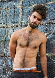 Hairy Nik Djordjevic Shirtless by Mike Carter  #hairy #model #NikDjordjevic