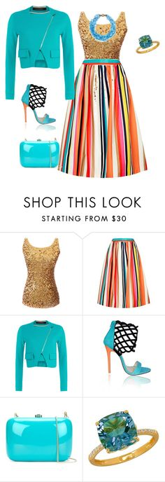 """""""Untitled #184"""" by vasth-queen on Polyvore featuring Alice + Olivia, Roland Mouret, Rocio and Lord & Taylor"""