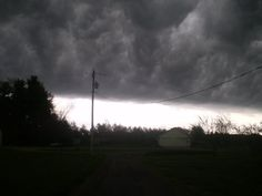 Nasty storm clouds...