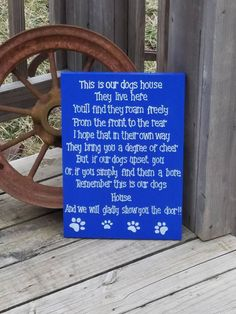 Pet Rules For The Home Rules for Non Pet by RusticLaneCreations
