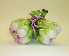 Katherine Houston Porcelain Triple Garlic Decorative Ceramic Sculpture. $425.00, via Etsy.