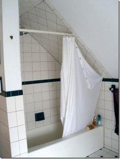 Finding Radiance Sloped Ceiling Bathroom Slanted Shower Curtains