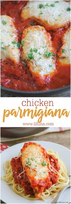 DELICIOUS Chicken Parmigiana - one of our favorite Italian recipes! It's so flavorful and is great for dinner.