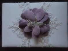 Guest Book Wedding White Lavender Lace water lily flower choose your colors by ArtisanFeltStudio, $42.00