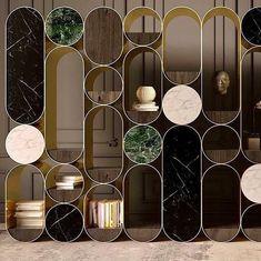 Good design is true. Interior Exterior, Interior Walls, Interior Architecture, Furniture Inspiration, Interior Design Inspiration, Wall Decor Design, Shelf Design, Partition Design, Decorative Panels