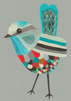BOOK Furniture Design Pieces Every Bookworm Should Have Get your daily illustrations inspiration. - Visit: Get your daily illustrations inspiration. Art Et Illustration, Illustrations, Ouvrages D'art, Blue Fairy, Art Design, Bird Art, Beautiful Birds, Folk Art, Art Projects